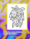 Weed   Flower Bouquet Coloring Book by Artist Grace Divine