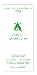 Catalogo Edizioni Carmelitane 2016