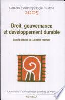 Droit, gouvernance et développement durable