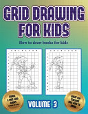 How to Draw Books for Kids (Grid Drawing for Kids - Volume 3)