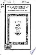 Rice as Food