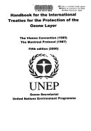 Handbook for the International Treaties for the Protection of the Ozone Layer