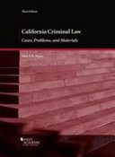 California Criminal Law