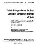 Technical cooperation on the solar distillation development program of Spain
