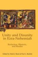 Unity and Disunity in Ezra Nehemiah