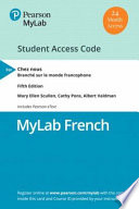 Mylab French With Pearson Etext for Chez Nous