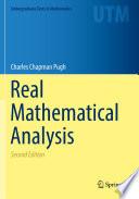 Real Mathematical Analysis Book