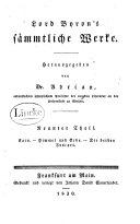 Lord Byron's sämmtliche Werke: Cain, uebers. von Adrian
