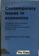 Contemporary Issues in Economics