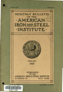 Bulletin of the American Iron and Steel Institute