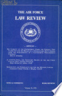 The Air Force Law Review Book
