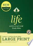 NLT Life Application Study Bible, Third Edition, Large Print (Red Letter, Hardcover, Indexed)