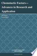 Chemotactic Factors—Advances in Research and Application: 2013 Edition
