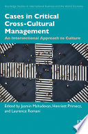 Cases in Critical Cross Cultural Management