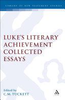 Luke's Literary Achievement Pdf/ePub eBook