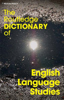 Pdf The Routledge Dictionary of English Language Studies