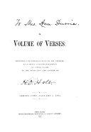 A Volume of Verses