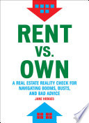 Rent vs  Own Book