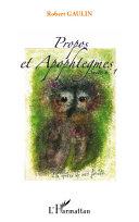 Propos et apophtegmes [Pdf/ePub] eBook