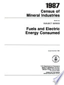 1987 Census Of Mineral Industries