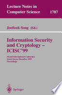 Information Security and Cryptology - ICISC'99