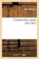 L Hydrorrhee Nasale ebook