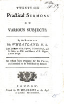 Twenty six practical Sermons on various subjects