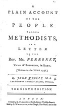 A Plain Account of the People called Methodists     The fifth edition