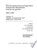 Thermophysical Properties Research Literature Retrieval Guide 1900–1980