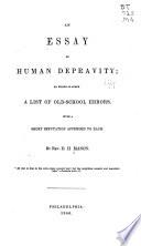 An Essay on Human Depravity