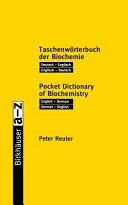 Pocket dictionary of biochemistry