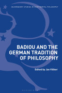 Badiou and the German Tradition of Philosophy