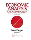Economic Analysis   Canadian Policy Book