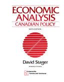 Economic Analysis & Canadian Policy