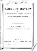 Barkers' Review of Politics, Literature, Religion, and Morals, and Journal of Education, Science, and Co-operation