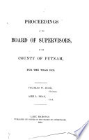 Journal Of The Proceedings Of The Board Of Supervisors Of Putnam County