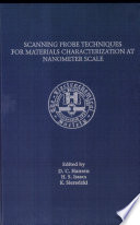 Scanning Probe Techniques for Materials Characterization at Nanometer Scale Book