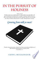 In the Pursuit of Holiness