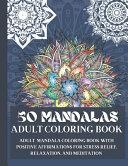 50 Mandalas Adult Coloring Book