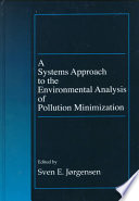 A Systems Approach To The Environmental Analysis Of Pollution Minimization Book PDF