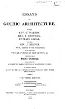 Essays on Gothic Architecture