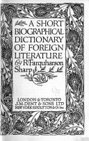 A Short Biographical Dictionary of Foreign Literature
