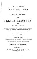 Ollendorff's New Method of Learning to Read, Write, and Speak the French Language