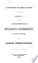 Confessions of John H  Noyes