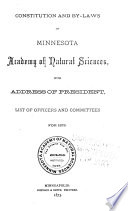 Bulletins of the Minnesota Academy of Natural Sciences