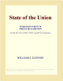 State of the Union  Webster s French Thesaurus Edition  Book