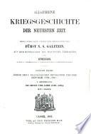 Allgemeine Kriegsgeschichte aller Völker und Zeiten