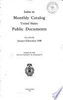 Monthly Catalog United States Public Documents