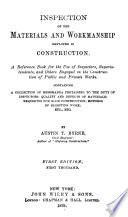 Inspection of the Materials and Workmanship Employed in Construction Book