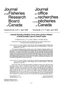 Journal of the Fisheries Research Board of Canada